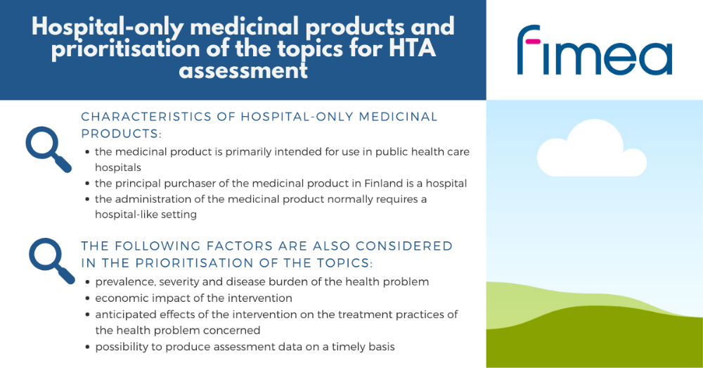 Hospital-only medicinal products and prioritisation of the topics for HTA assessment